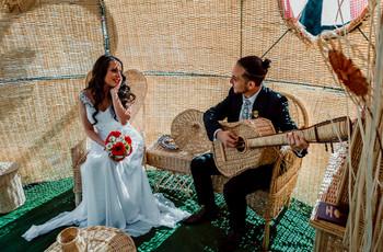 El mimbre en los matrimonios al aire libre