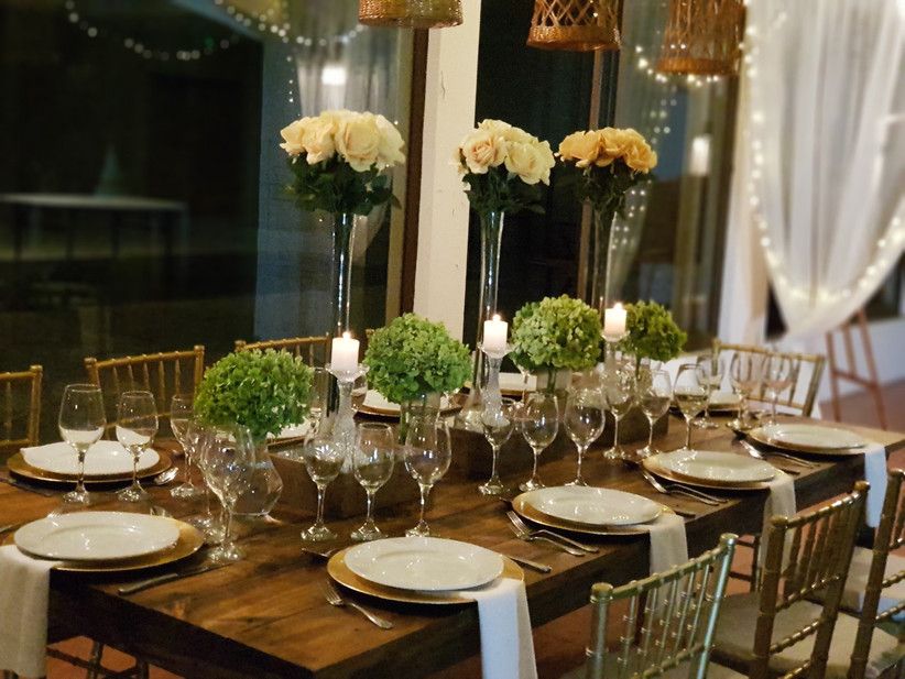Centro de Eventos Capelli - Detalle de mesa para matrimonios