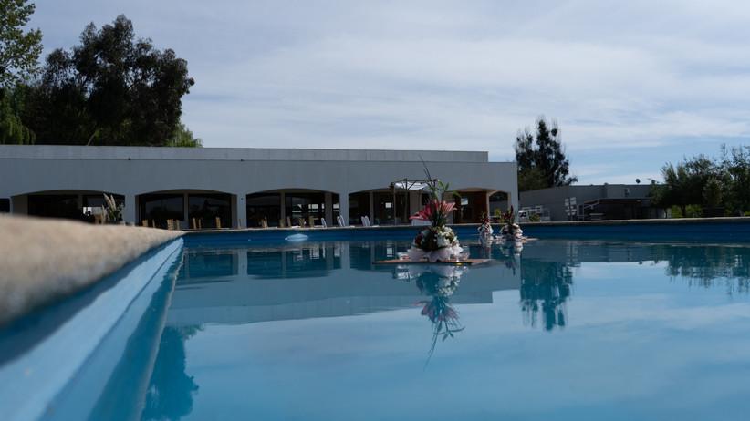 Centro de Eventos Capelli - Zona exterior junto a piscina