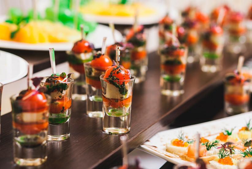 cóctel banquete matrimonio