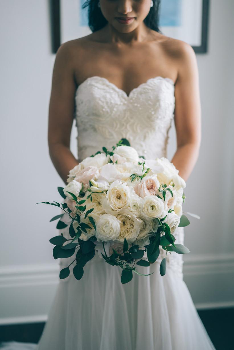 ramo de novia tonos pasteles