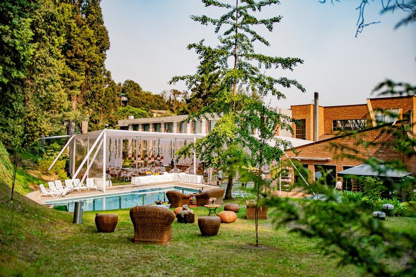 Hotel Bosque de Reñaca - Exterior jardines y piscina