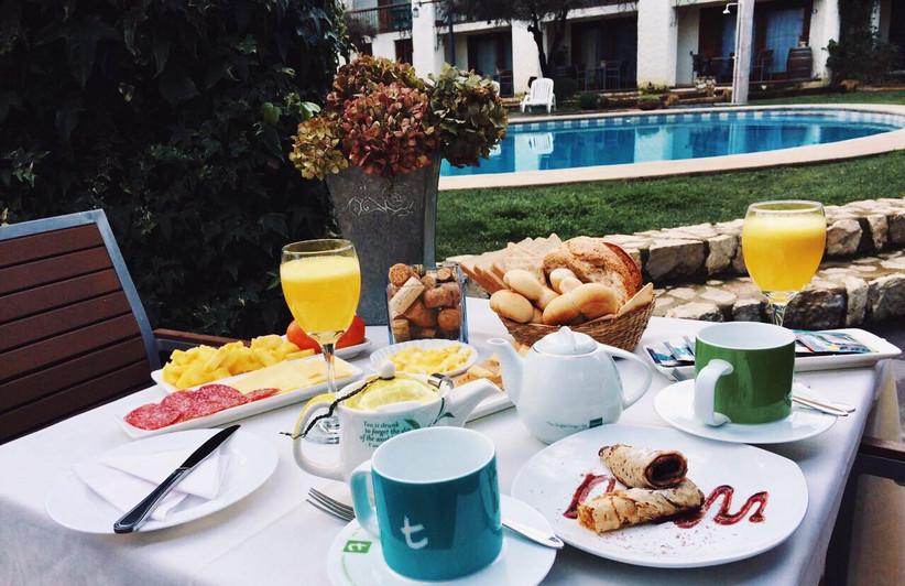 Hotel Casablanca - Detalle de desayuno
