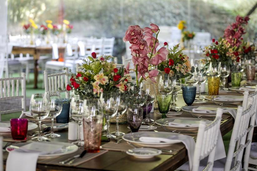Espacio Gastronómico - Decoraciones florales mesa