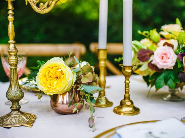 5 centros de mesa para matrimonios vintage