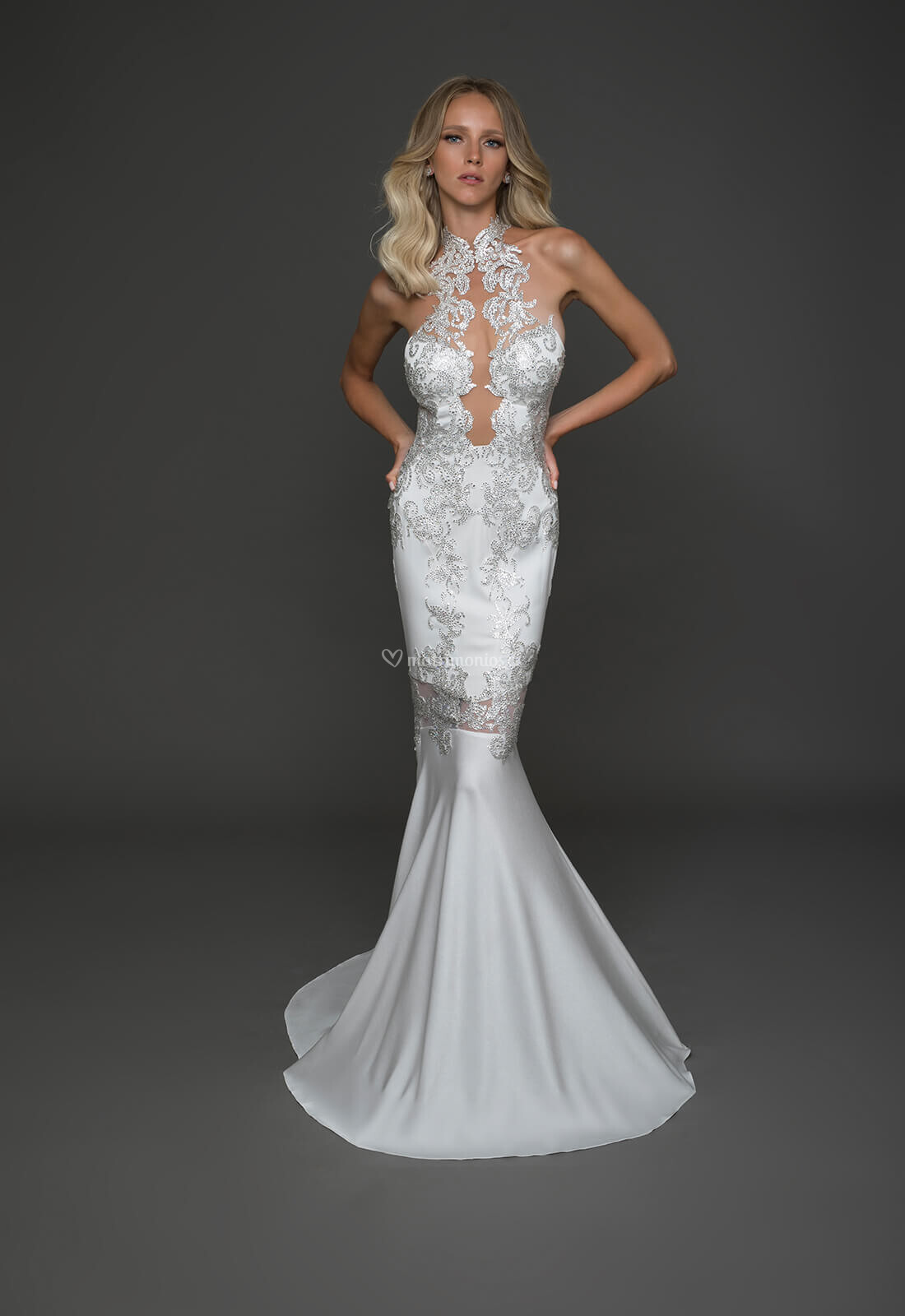 Vestido de novia corte sirena pinina