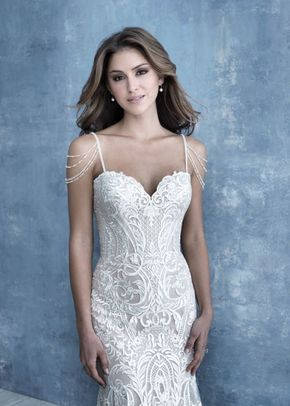 CP45  cap sleeves, Allure Bridals