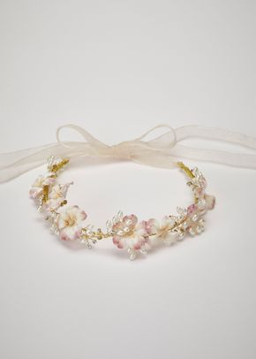 KATEN CIRCLET OFF WHITE PINK, Pronovias