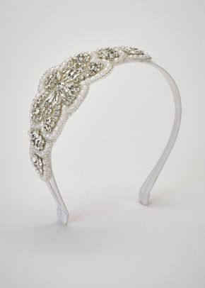 KINDRA HEADBAND OFF WHITE SILVER, Pronovias