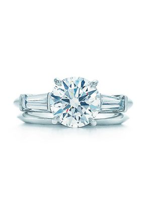 ROUND BRILLIANT WITH TAPERED BAGUETTES , Tiffany & Co.