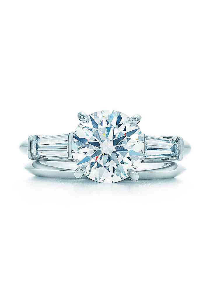 ROUND BRILLIANT WITH TAPERED BAGUETTES, Tiffany & Co.