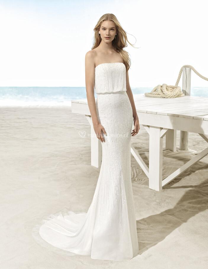 vestido de novia de aire barcelona - ubago