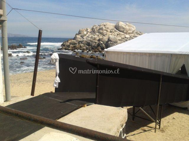 Evento en playa Cochoa