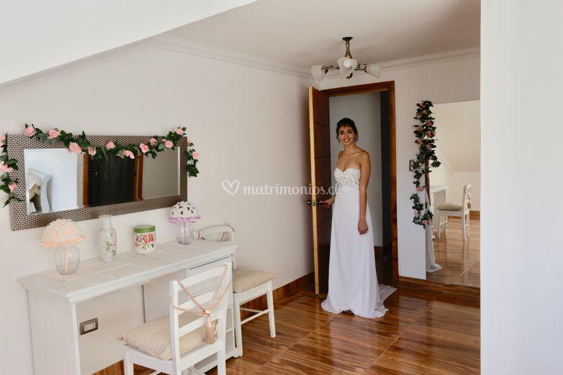 Entrada a loft para la novia