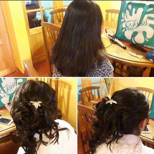 Peinado graduación