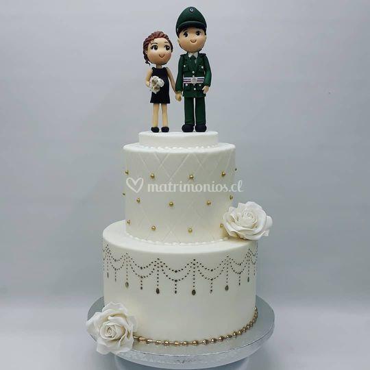 Torta matrimonio civil 30 personas