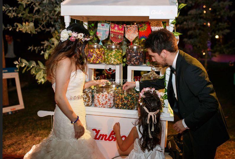 Matrimonio con carrito