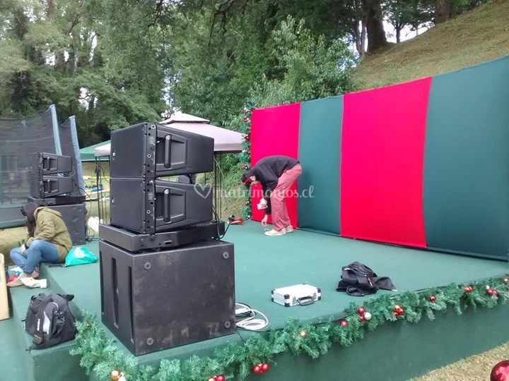 Line array rcf, italy