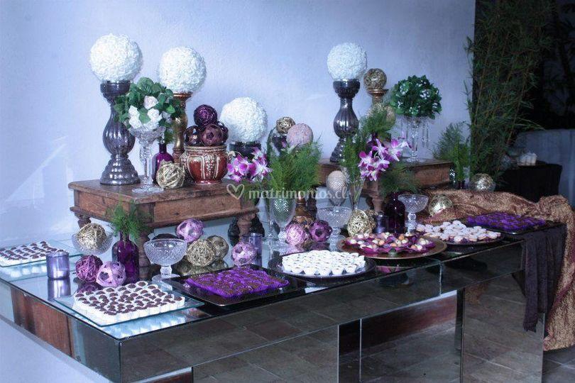 Mesa de dulces mix