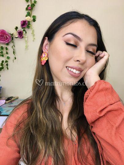 Maquillaje tonos anaranjados