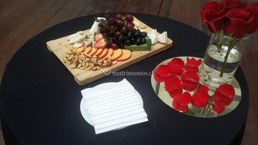Exquisitas tablas de finos quesos