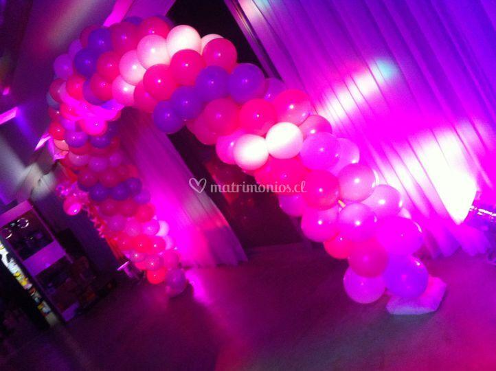 Arco globos