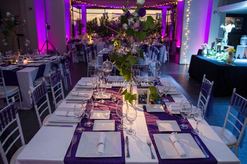 Matrimonio en color lila