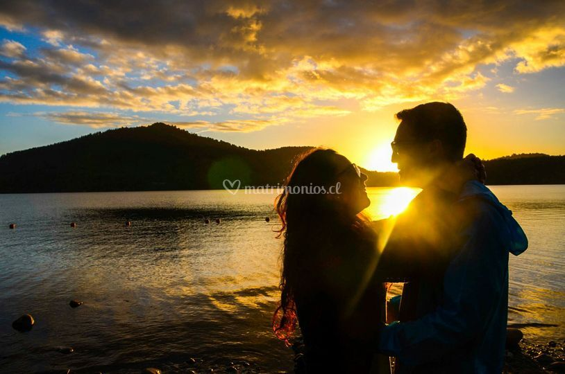Sesión casual en lago Colico