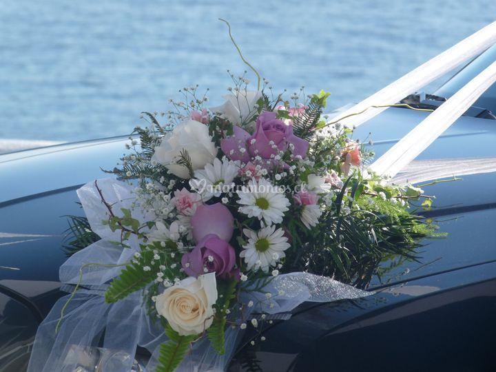 Estilo marino, flores naturales