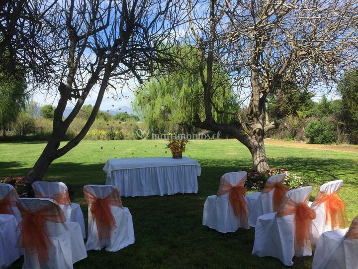 Matrimonio civil al aire libre