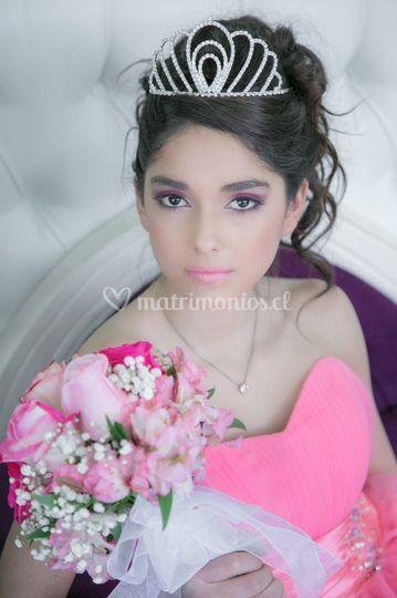 Maquillaje romántico Fran