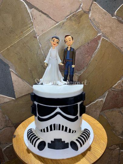 Torta y novios Star War