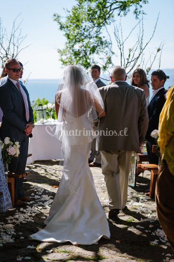 Ceremonia en la terraza