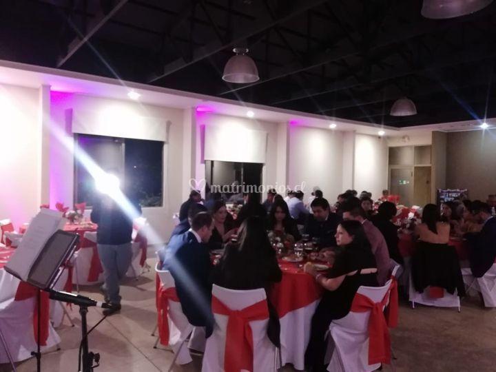 Cena y cocktail matrimonio