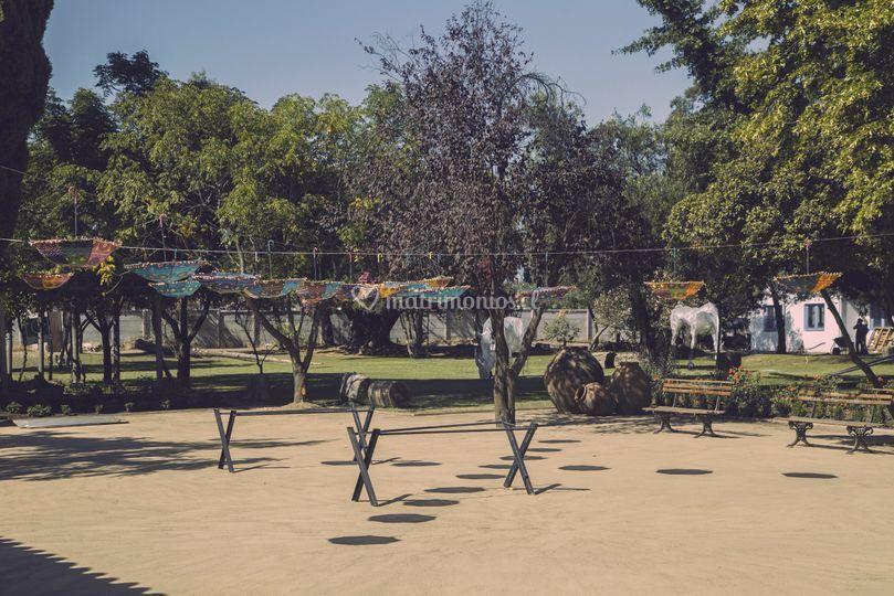 Parque y área de cóctel