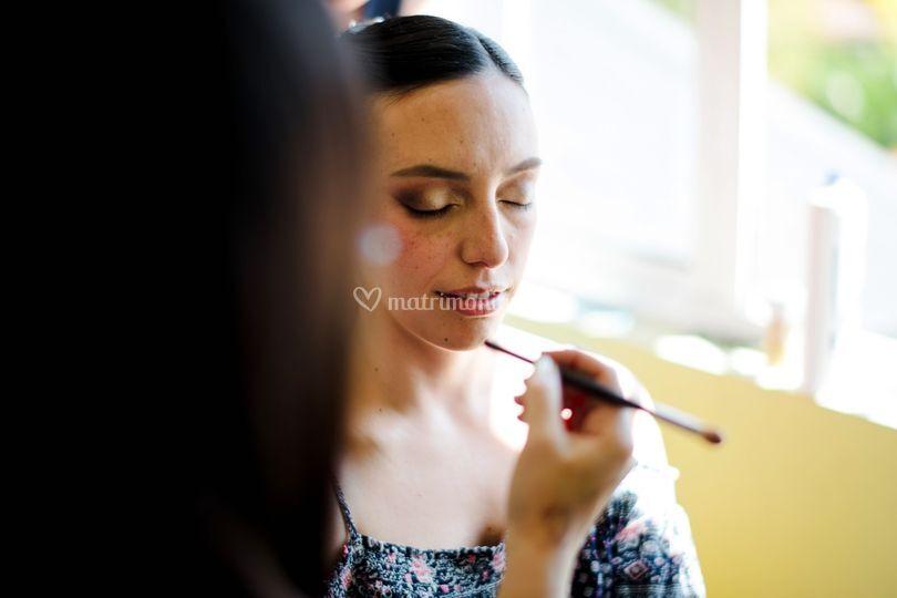 Maquillaje de Novia en proceso