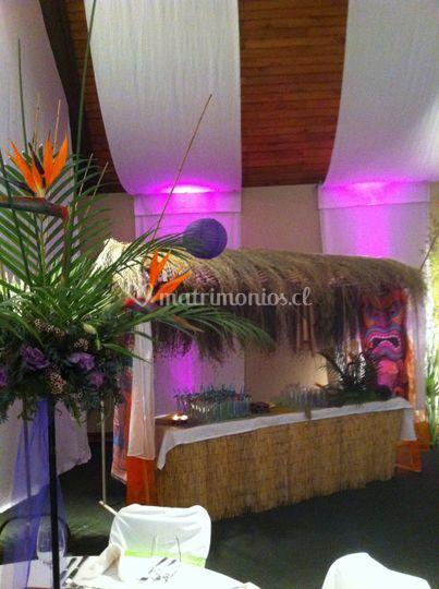 Evento hawaiano - empresa