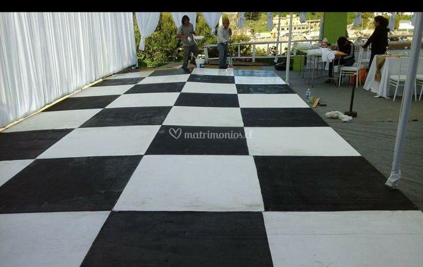 Pista de baile ajedrez