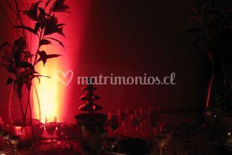 Ambientacion con luz roja
