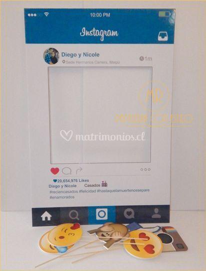 Marco selfie y photobooth