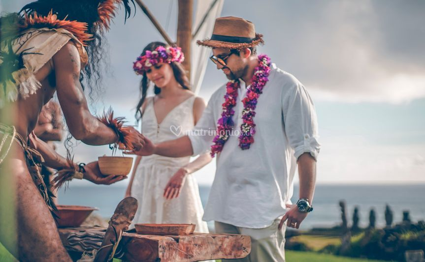 Celebración en Rapa Nui