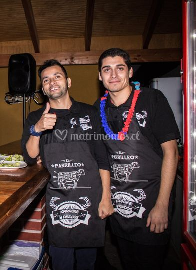 Sebastián barman y Felipe