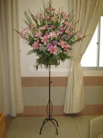 Pedestales para flores