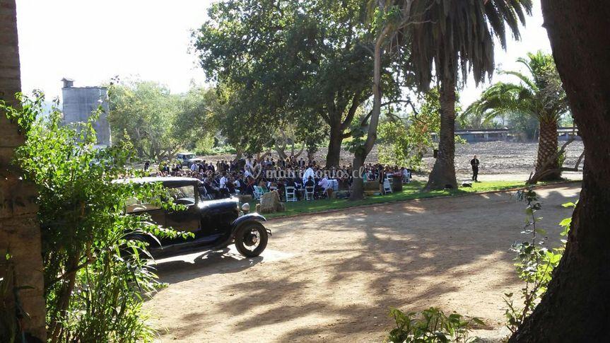 Burra y espacio de ceremonias