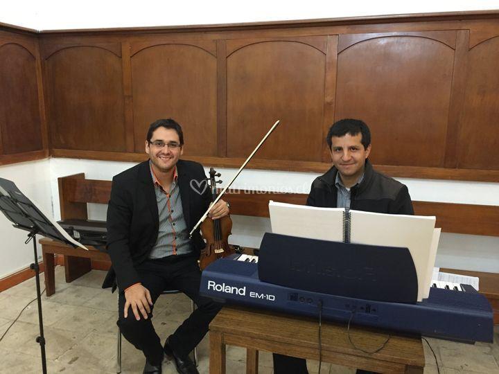 Violín y teclado
