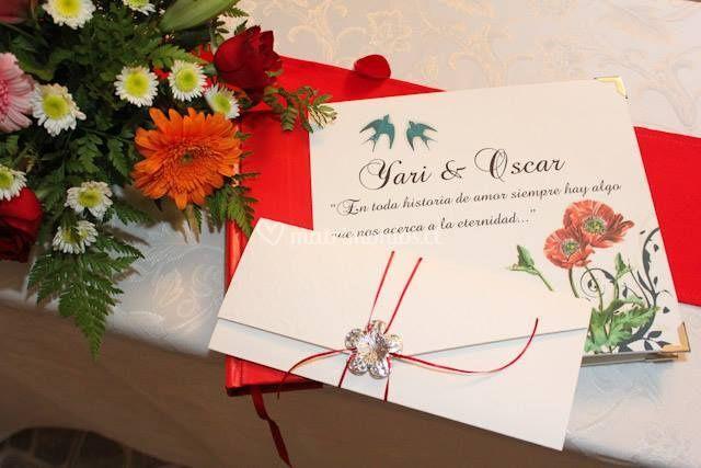 Libro Yari & Oscar en la boda