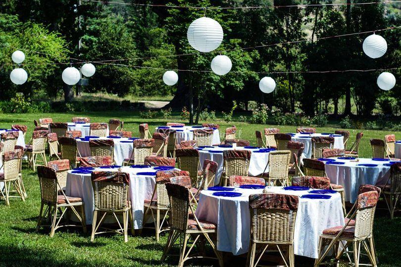 Banquete estilo rústico
