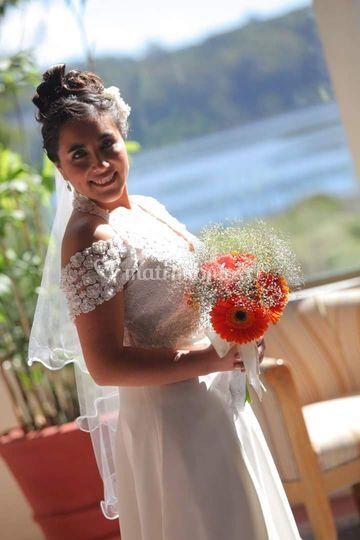 Ramo de novia y velo