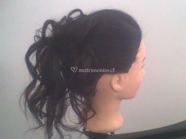 Peinado de noche
