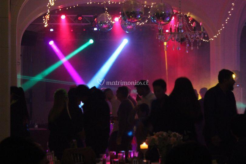 Ambientación de fiesta luces